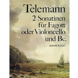 Telemann, GP 2 Sonatinas for bassoon (cello) and bc.