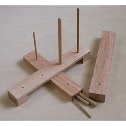 Oak Recorder Stand