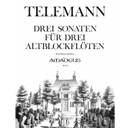 Telemann, GP 3 sonatas for alto recorders without bass