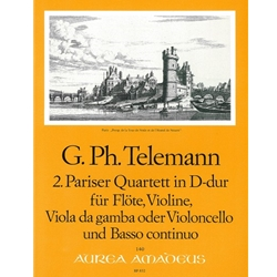 "Telemann, GP Concerto (""Paris"" Quartet no. 2) in D Major (TWV 43:D1)"