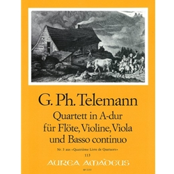 Telemann, GP Quartet 3 in A Major (TWV 43:A4)