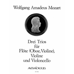Mozart, WA 3 Trios for flute, violin, and cello