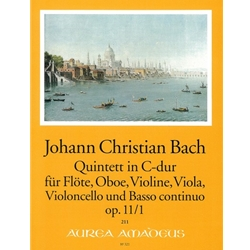 Bach, JC 6 Quintets, op. 11, v. 1: C Major