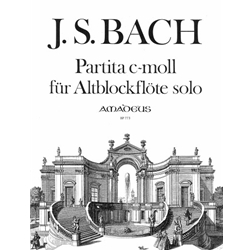 Bach, JS Partita in c minor, after BWV1013 (with facsimile)