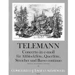 Telemann, GP Concerto in e minor (Single parts: Please specify)