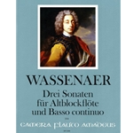 Abazis 3 Sonatas for alto recorder and bc (Wassenaer)