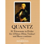 Quantz trio sonata in D major (QV 2:12)