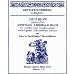 Blow, John: 2 Sonatas (A Major & G Major)