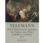 Telemann, GP 12 Methodical Sonatas (Vol. 1, Nos. 1-3) (Sc+P)