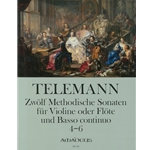 Telemann, GP 12 Methodical Sonatas (Vol. 2, Nos. 4-6) (Sc+P)