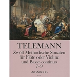 Telemann, GP 12 Methodical Sonatas (Vol. 3, Nos. 7-9) (Sc+P)