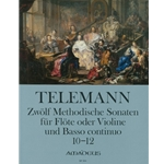 Telemann, GP 12 Methodical Sonatas (Vol. 4, Nos. 10-12) (Sc+P)