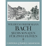 Bach, WF 6 Sonatas, nos. 4-6 (F Major, E-flat Major, f mino)
