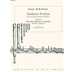 Sibelius, Jean: Andante Festivo for String Quartet arr. for Recorder Ensemble
