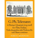 "Telemann, GP Sonata (""Paris"" Quartet no. 4) in g minor (TWV 43:g1)"