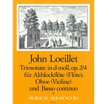 Loeillet, John Trio Sonata in d minor, op. 2/4