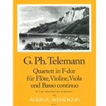 Telemann, GP: Quartett 2 in F Major (TWV 43:F1)