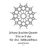Quantz Trio in F Major for three alto recorders (QV 3:3.2)