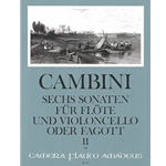Abazis 6 Sonatas for flute and cello, v. 2: nos. 4-6 (Cambini)