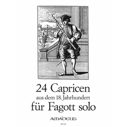 Anonymous: 24 Capricen from the 18th Century for bassoon/cello solo