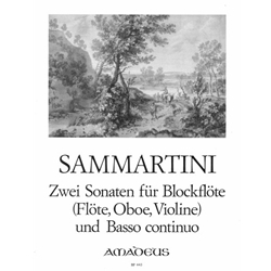 Sammartini 2 Sonatas for soprano recorder and bc.