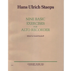 Staeps: 9 Basic Exercises for Alto Recorder