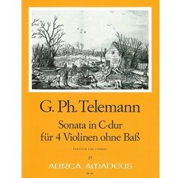 Telemann, GP Sonata in C Major for 4 violins without bass