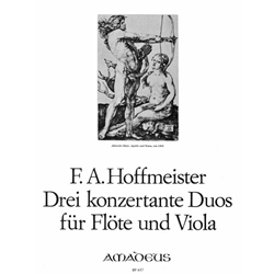 Hoffmeister 3 Concertante Duos for flute and viola
