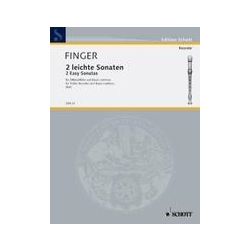 Finger, Gottfried 2 Easy Sonatas (Sc+P)
