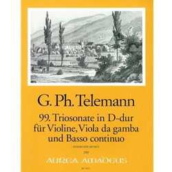 Telemann, GP Triosonata 99 in D Major (TWV 42:D9)