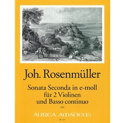 Rosenmuller Sonata Seconda in e minor (Sc+P)