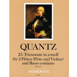 Quantz Trio sonata in a minor (QV 2:40)