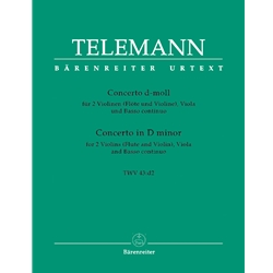 Telemann, GP Concerto in d minor, TWV 43:d2
