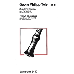 Telemann, GP 12 Fantasias after TWV40:2-13