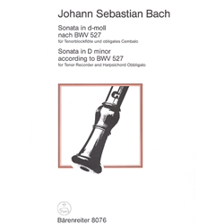 Bach, JS Sonata in d minor (after BWV 527)