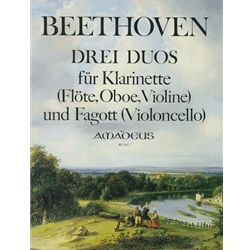 Beethoven 3 Duos for Clarinet (or flute or violin) and Bassoon (WoO27)