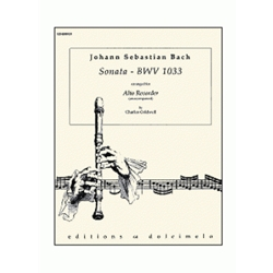 Bach, JS: Sonata after BWV 1033 (alto recorder)