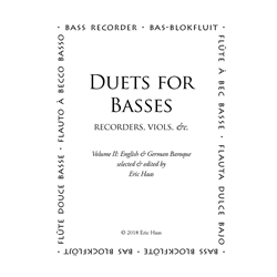 Duets for Basses, volume 2: English & German baroque