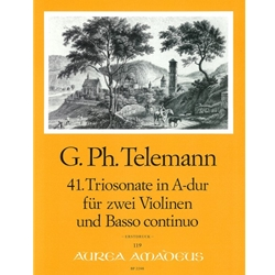 Telemann, GP Trio Sonata 41 in A Major (TWV 42:A13)