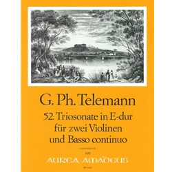 Telemann, GP Trio Sonata 52 in E Major (TWV 42:E5)