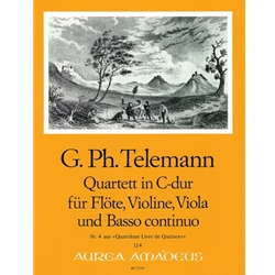 Telemann, GP: Quartett 4 in C Major (TWV 43:C1)