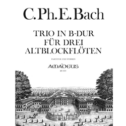 Bach, CPE Trio in B-flat Major, (Wq85)