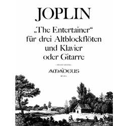 "Joplin ""The Entertainer"" for 3 alto recorders"
