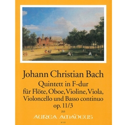Bach, JC 6 Quintets, op. 11, v. 3: F Major