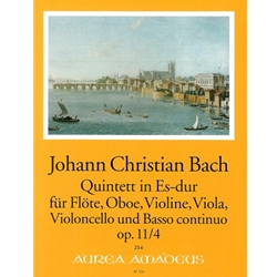 Bach, JC 6 Quintets, op. 11, v. 4: E-flat Major