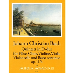 Bach, JC 6 Quintets, op. 11, v. 6: D Major