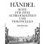 Handel, GF Suite for two recorders and cello