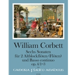 Corbett, William: 6 Sonatas, op. 4/1-3