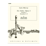 Mercy, Louis: Six Solos, op. 1/1-3