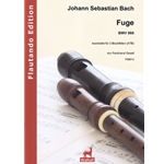 Bach, JS: Arranged by Ferdinand Gesell Fuge BWV 866 for recorders